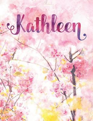 Kathleen: Personalized Journal - A Pink Cherry Blossom Diary