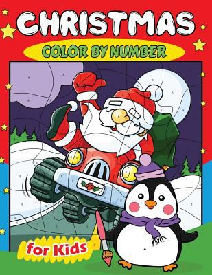 Christmas Color by Number for Kids: Education Coloring Game for Toddlers & Kids