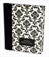 Takeout Menu Folder: Elegant Black 16610193