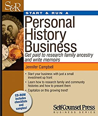 Start & Run a Personal History Business [With CDROM] 9781770400580