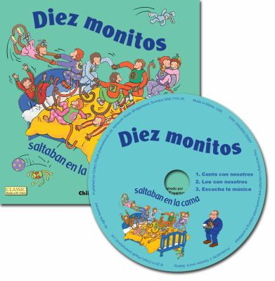 Diez Monitos Saltaban en la cama/ Ten Little Monkeys Jumping On The Bed (Classic Books With Holes) (Spanish Edition)