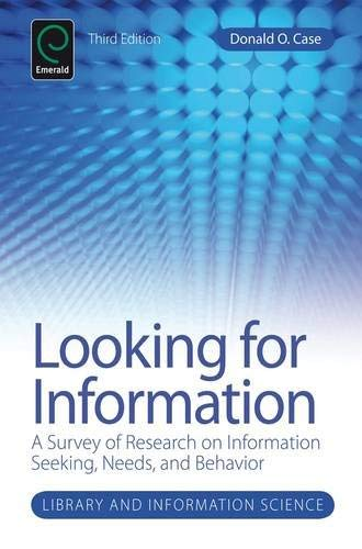 Looking for Information: A Survey of Research on Information Seeking, Needs, and Behavior 9781780526546