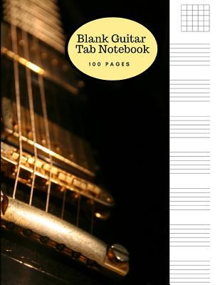 Blank Guitar Tab Notebook: Large Sheet Music Staff Paper for Writing Guitar Melodies, Riffs, Chords and Songs - Matte Cover with a Gibson