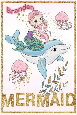 Branden Mermaid: Wide Ruled   Composition Book   Diary   Lined Journal