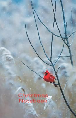 "Christmas notebook: Cardinal bird in the snow 5.06""x7.81"" (12.85x19.84cm) journal/diary/lists."