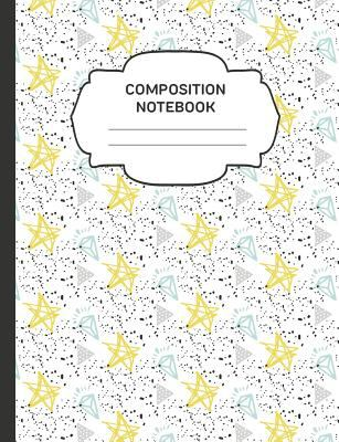 Composition Notebook: College Ruled Narrow Line Comp Books for School - Yellow Star Diamond Doodles (Trendy Cute Journals for Teens & Adults)