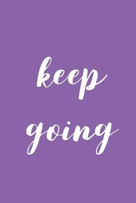 Keep Going: A Simple Weekly 2020 Planner : 6x9 Satin Matte Bright Purple Cover