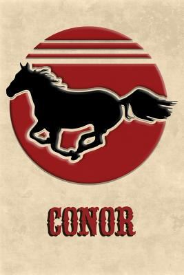 Wild Horse Lined Notebook: Conor: College Ruled | Composition Book | Diary | Lined Journal