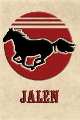 Wild Horse Lined Notebook: Jalen: College Ruled | Composition Book | Diary | Lined Journal