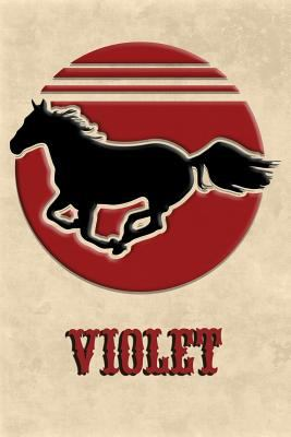Wild Horse Lined Notebook: Violet: College Ruled | Composition Book | Diary | Lined Journal
