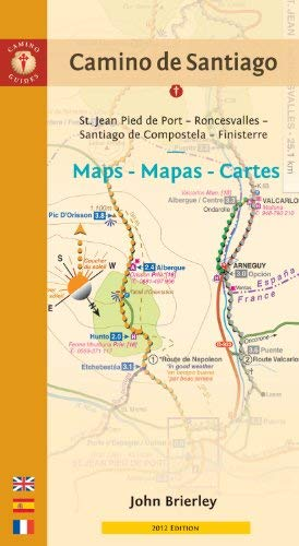 Camino de Santiago Maps - Mapas - Cartes: St. Jean Pied de Port - Roncesvalles - Santiago de Compostela - Finisterre 9781844095766