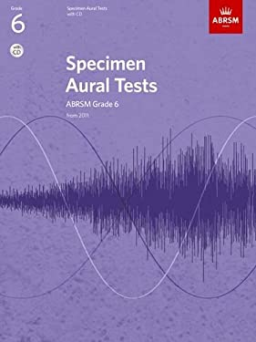 Specimen Aural Tests, Grade 6, with CD: from 2011 9781848492585