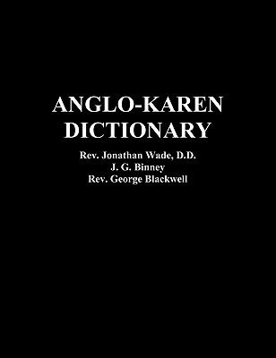 Anglo-Karen Dictionary 9781849023849