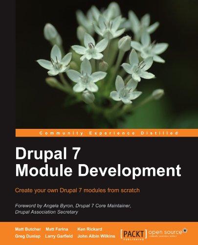 Drupal 7 Module Development 9781849511162
