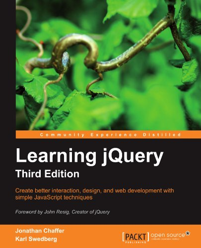 Learning Jquery, Third Edition 9781849516549