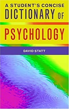 A Student's Dictionary of Psychology 9781841693415