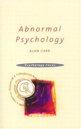 Abnormal Psychology 9781841692425