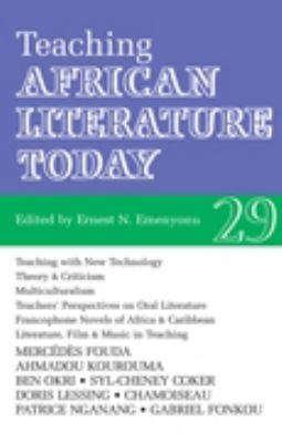 Alt 29 Teaching African Literature Today 9781847015112