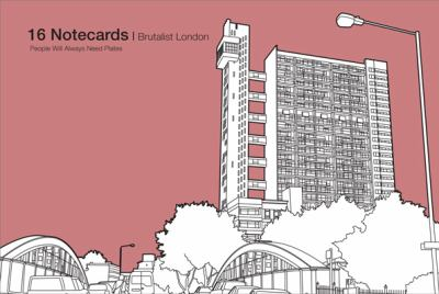 Brutalist London: 16 Notecards 9781840656183