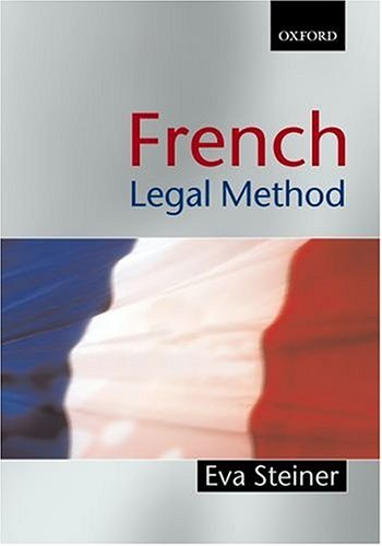French Legal Method 9781841741857