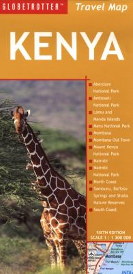 Globetrotter Kenya Travel Map 9781847733672