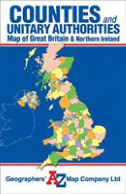 Great Britain Counties and Unitary Authorities Map 9781843486282