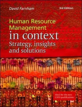 human resource management in the context Introduction the need for understanding human resource management ( hrm) in context applied psychologists have developed sophisticated tools.