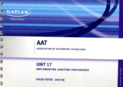 Implementing Auditing Procedures - Pocket Notes 9781847103482
