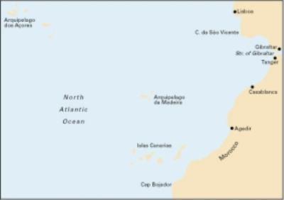Imray Chart C20: Strait of Gibraltar to Archipelago Des Acores & Islas Canarias 9781846232176
