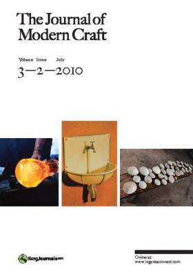 The Journal of Modern Craft Volume 3 Issue 2 9781847886712
