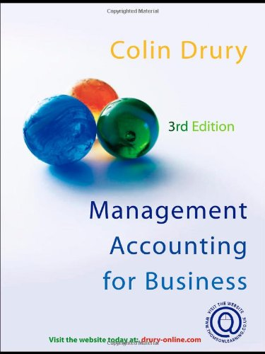 Management Accounting for Business 9781844801527