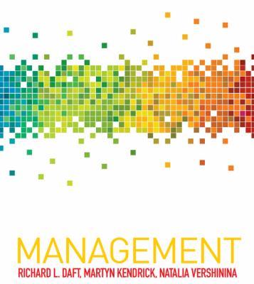 Management By Richard L Daft Martyn Kendrick 9781844808823 Reviews Description And More Betterworldbooks Com