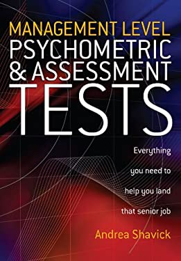 Management Level Psychometric and Assessment Tests 9781845280284