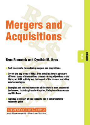 Mergers and Acquisitions 9781841123394