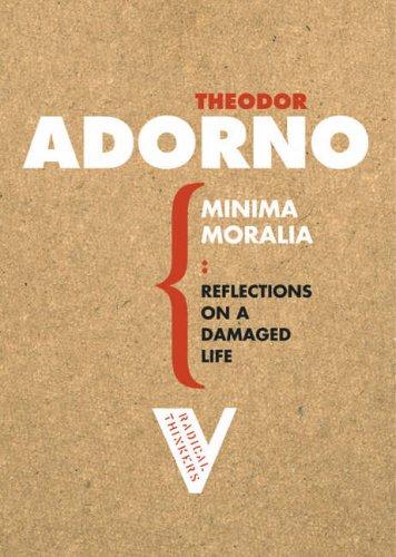 Minima Moralia: Reflections from Damaged Life 9781844670512