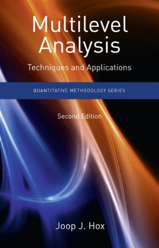 Multilevel Analysis: Techniques and Applications 9781848728462