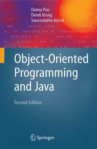 Object-Oriented Programming and Java 9781846289620