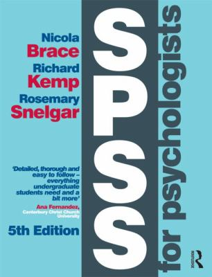 SPSS for Psychologists: Fifth Edition 9781848726000