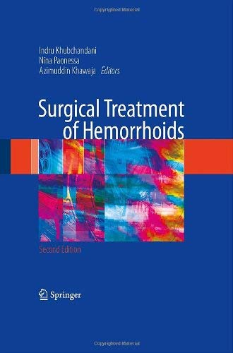 Surgical Treatment of Hemorrhoids 9781848003132
