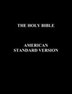 The Holy Bible American Standard Version 9781849026840