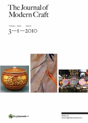The Journal of Modern Craft, Volume 3, Issue 1 9781847885562