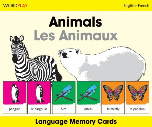Animals/Les Animaux Wordplay Language Memory Cards 9781840595598