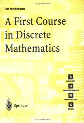 A First Course in Discrete Mathematics 9781852332365