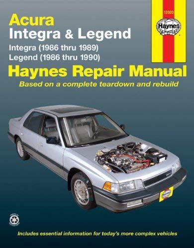 Acura: Integra & Legend 1986-1990 9781850107767