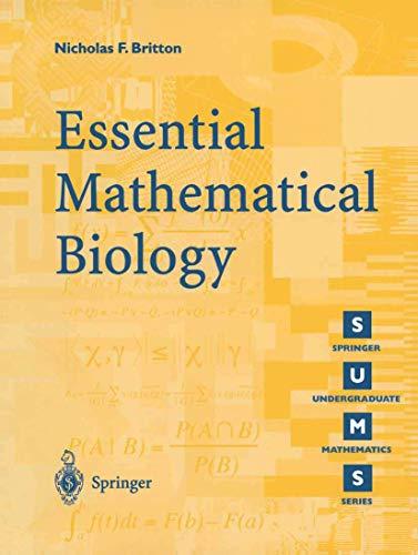 Essential Mathematical Biology 9781852335366