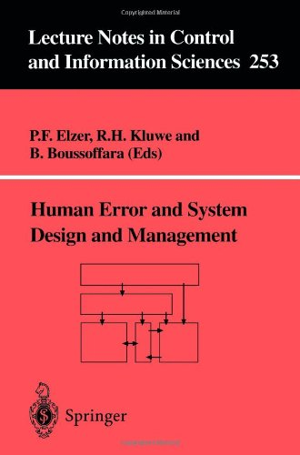 Human Error and System Design and Management 9781852332341
