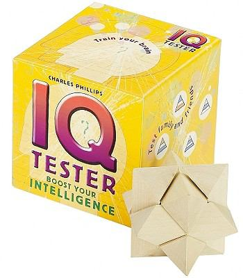 IQ Tester: Boost Your Intelligence [With IQ Tester Cards and Wooden Puzzle and Paperback Book] 9781859063095