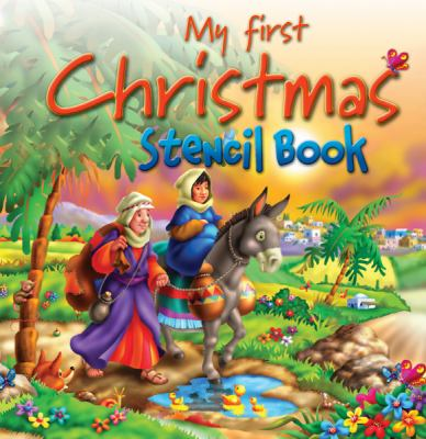My First Christmas Stencil Book 9781859857984