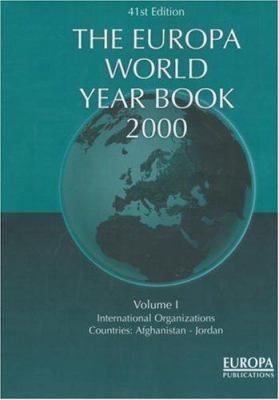 The Europa World Year Book 2000 9781857430752