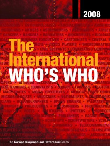 The International Who's Who 2008 9781857434156